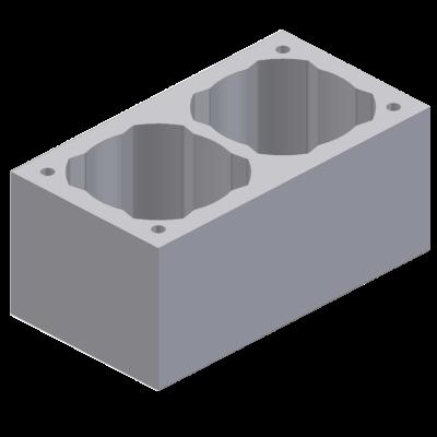 Perlitowy pustak kominowy dwuciągowy 68x36x33cm