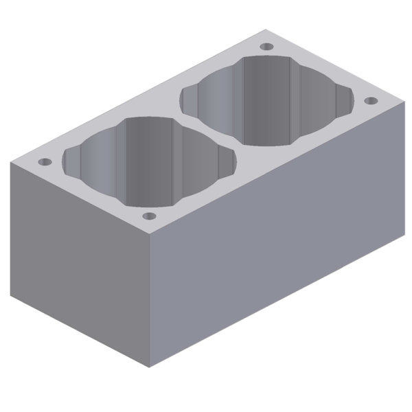 Perlite chimney block double channel 68x36x33cm