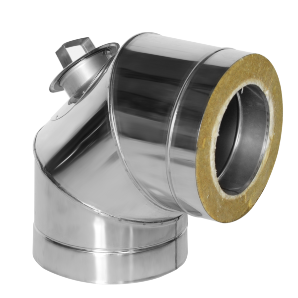 Insulated elbow 90° with inspection