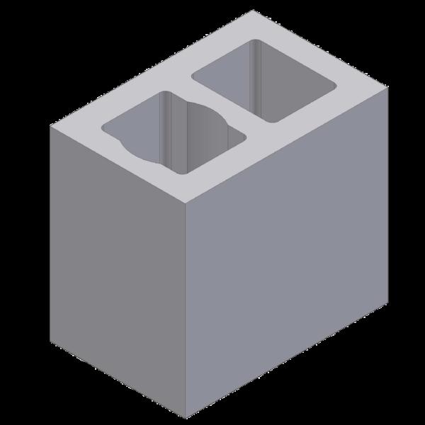 Perlite blok with 2 ventlation channels 36x24x33cm
