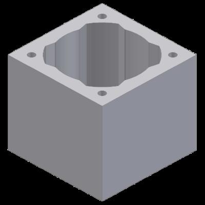 Perlitowy pustak kominowy fi25cm 48x48x33cm