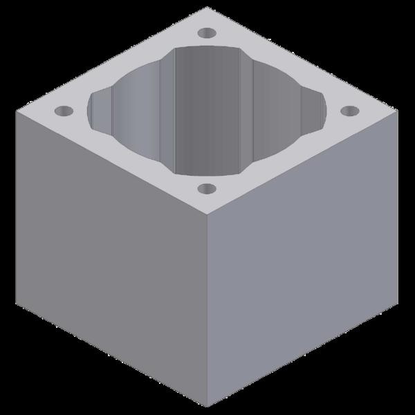 Perlite chimney block for diameter 25cm 48x48x33cm