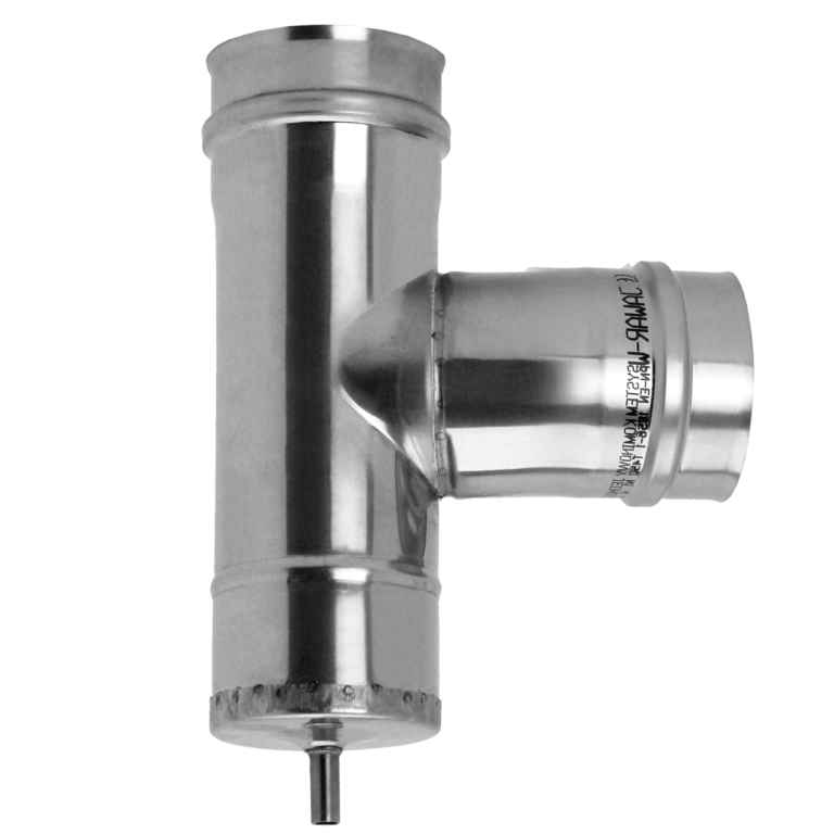 T-pipe with condensate tray