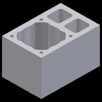 Perlitowy pustak kominowy z podwójną wentylacją 54x36x33cm